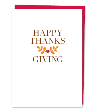 "Design with Heart Studio - Greeting Cards - ""Happy Thanksgiving"""