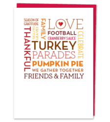 Design with Heart Studio - Thanksgiving Word Cloud