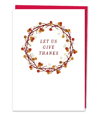 """Design with Heart Studio - Greeting Cards - """"Let Us Give Thanks"""""""