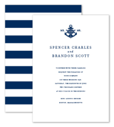 Design with Heart Studio - Wedding Suites - Nautical Navy Wedding Suite