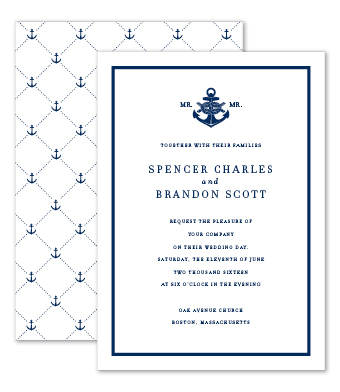 Design with Heart Studio - Boxed Sets - Nautical Navy Wedding Suite