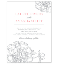 Design with Heart Studio - Wedding Suites - Silver Peony Wedding Suite