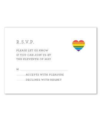 Design with Heart Studio - Boxed Sets - Square Rainbow Heart Wedding Suite