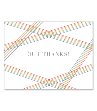 Design with Heart Studio - Boxed Sets - Rainbow Stripe Wedding Suite