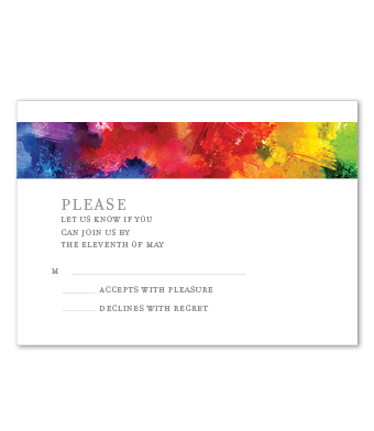 Design with Heart Studio - Boxed Sets - Watercolor Rainbow Wedding Suite
