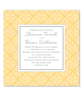Design with Heart Studio - Boxed Sets - Marigold Lattice Wedding Suite