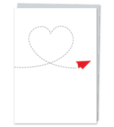 Design with Heart Studio - Greeting Cards Paper Airplane Heart