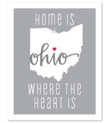 "Design with Heart Studio - Art Prints ""Home Is Where The Heart Is"""