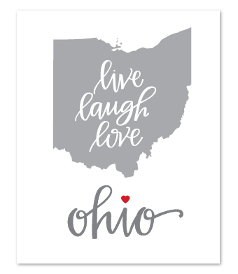 "Design with Heart Studio - Art Prints - ""Live Laugh Love"""