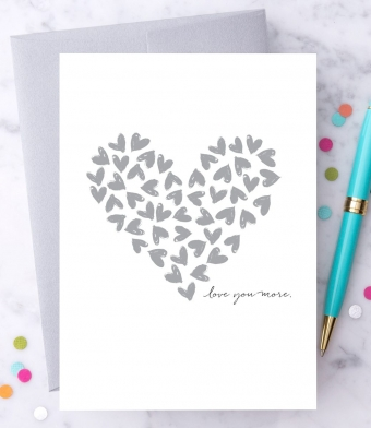 """Design with Heart Studio - Greeting Cards - """"Love You More."""""""
