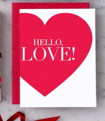 """Design with Heart Studio - Greeting Cards - """"Hello, Love!"""""""