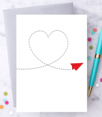 Design with Heart Studio - Greeting Cards - Paper Airplane