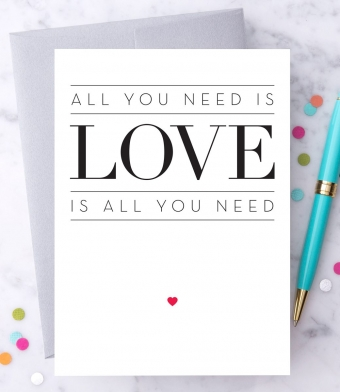 """Design with Heart Studio - Greeting Cards - """"All you need is Love."""""""