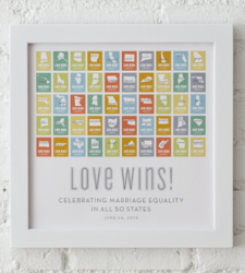 Design with Heart Studio - Art Prints Marriage Equality Framed Print