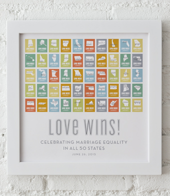 Design with Heart Studio - Art Prints - Marriage Equality Framed Print