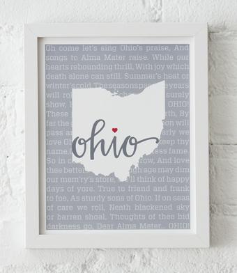 Design with Heart Studio - Art Prints - Carmen Ohio Framed Print