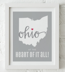 Design with Heart Studio - Art Prints At The Heart Of It All Framed Print