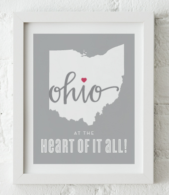 Design with Heart Studio - Art Prints - At The Heart Of It All Framed Print