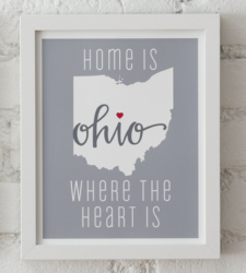 Design with Heart Studio - Art Prints Home Is Where The Heart Is Framed Print