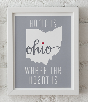 Design with Heart Studio - Art Prints - Home Is Where The Heart Is Framed Print