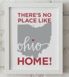 Design with Heart Studio - Art Prints There's No Place Like Home Framed Print