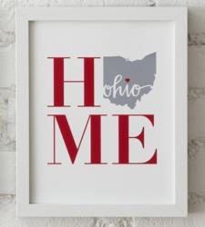 Design with Heart Studio - Art Prints HOME Framed Print