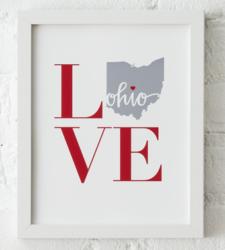 Design with Heart Studio - Art Prints LOVE Framed Print
