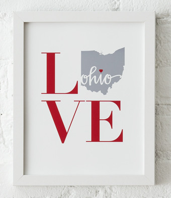 Design with Heart Studio - Art Prints - LOVE Framed Print