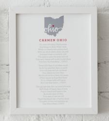 Design with Heart Studio - Art Prints Carmen Ohio Lyrics Framed Print