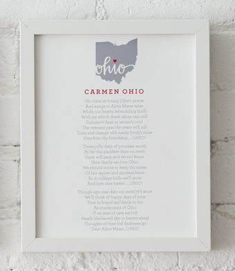 Design with Heart Studio - Art Prints - Carmen Ohio Lyrics Framed Print