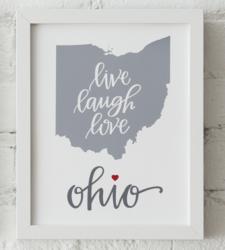 Design with Heart Studio - Art Prints Live Love Laugh Framed Print