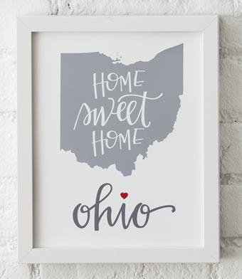 Design with Heart Studio - Art Prints - Home Sweet Home Framed Print
