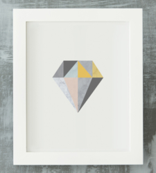 Design with Heart Studio - Art Prints Framed Marble Geometric Diamond Art Print