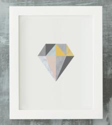 Design with Heart Studio - Art Prints Framed Marble Geometric Diamond Art Print