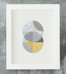 Design with Heart Studio - Art Prints Framed Marble Intersecting Circles Art Print