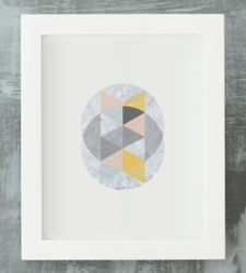 Design with Heart Studio - Art Prints Framed Marble Intersecting Circles #2 Art Print