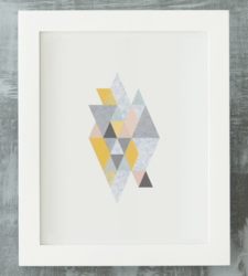 Design with Heart Studio - Art Prints Framed Geometric Marble Art Print