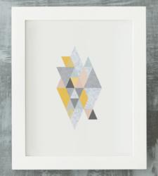 Design with Heart Studio - Art Prints Framed Geometric Marble Art Print
