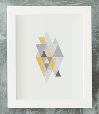 Design with Heart Studio - Art Prints - Framed Geometric Marble Art Print