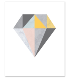 Design with Heart Studio - Art Prints Marble Geometric Diamond Art Print