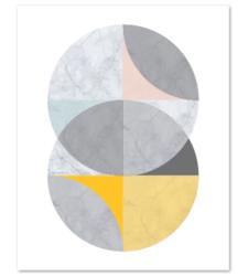 Design with Heart Studio - Art Prints Marble Intersecting Circles Art Print