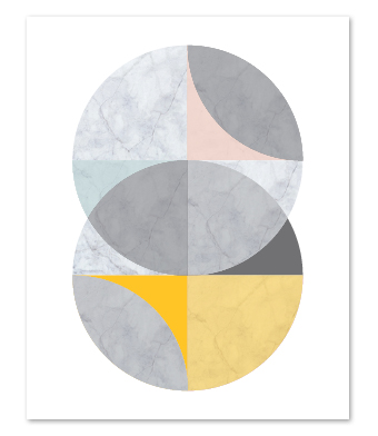 Design with Heart Studio - Art Prints - Marble Intersecting Circles Art Print
