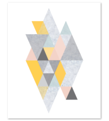 Design with Heart Studio - Art Prints Geometric Marble Art Print
