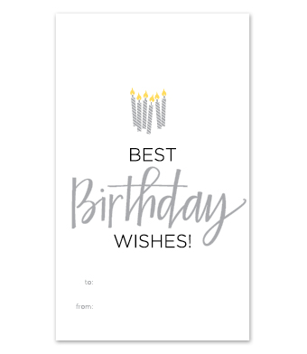 "Design with Heart Studio - Wine Bottle Gift Tags - ""Best Birthday Wishes!"""