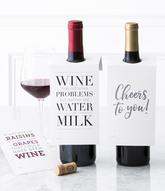 "Design with Heart Studio - Wine Bottle Gift Tags - ""Every Box of Raisins…"""