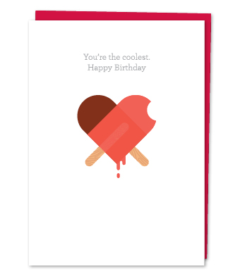 """Design with Heart Studio - Greeting Cards - """"You're the coolest. Happy Birthday"""""""