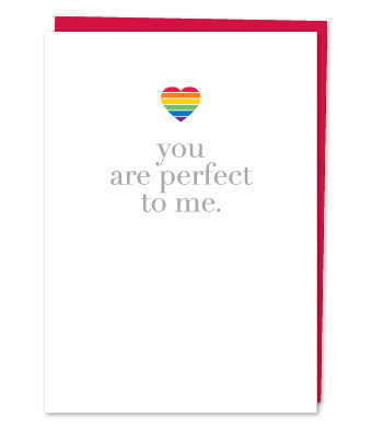 """Design with Heart Studio - Greeting Cards - """"You Are Perfect To Me."""""""
