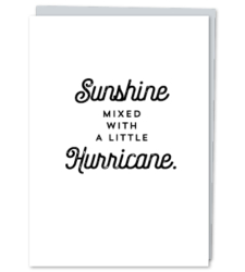"Design with Heart Studio - Greeting Cards ""Sunshine Mixed With A Little Hurricane."""