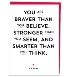 Design with Heart Studio - Greeting Cards A.A. Milne Quote