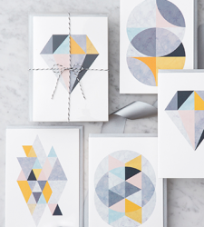 Design with Heart Studio - Boxed Sets - Marble Geometric Box Set